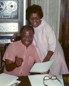 Louis and Lucille in den 240x300 - Louis Armstrong's Queens Home Now a Shrine to His Genius