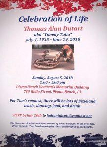 Tom Dutart Invite