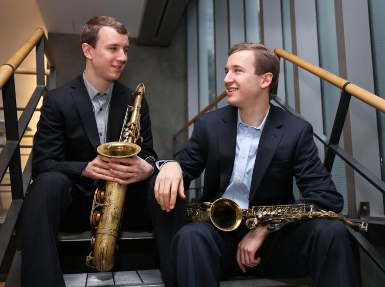 Peter (tenor sax) and Will Anderson (alto sax)