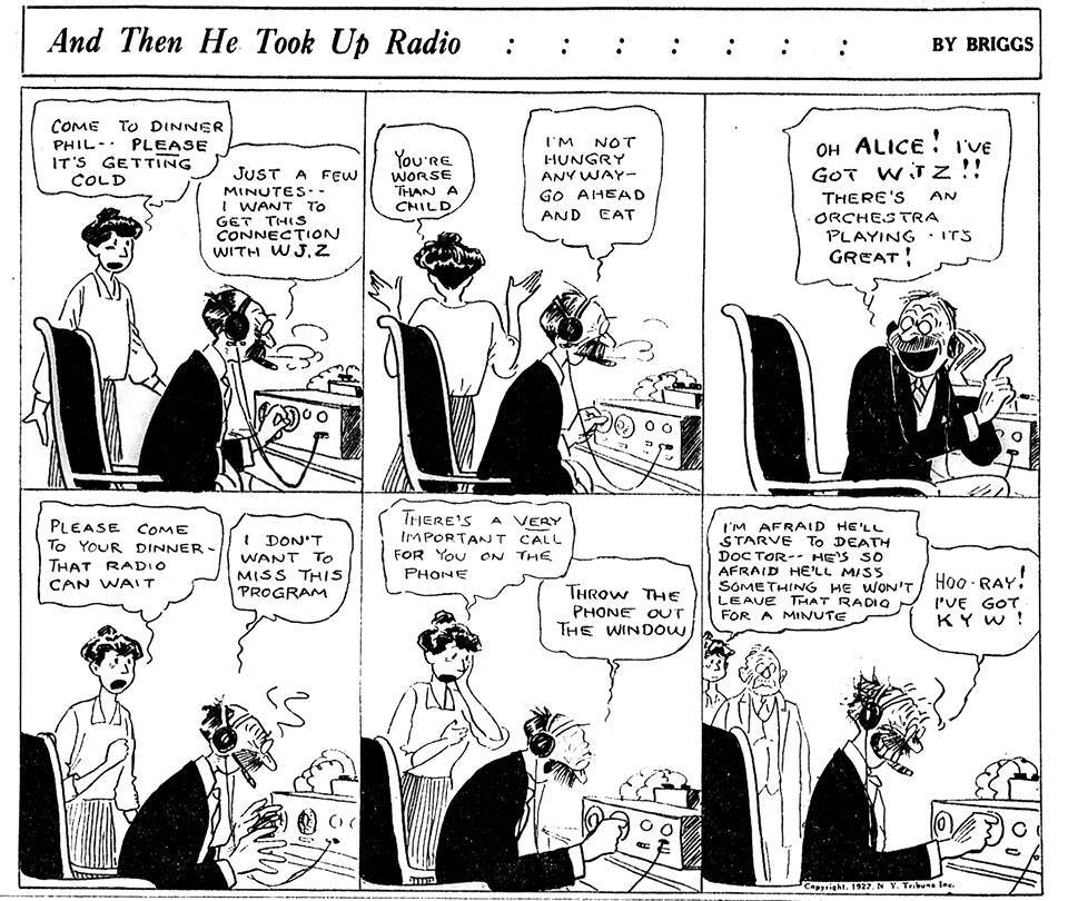 And Then He Took Up Radio by Clare Briggs (1927)
