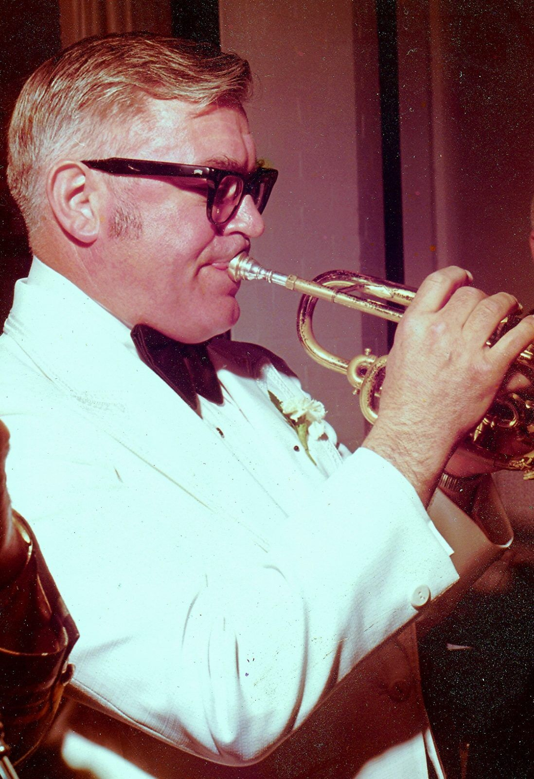 Dick Ames with horn