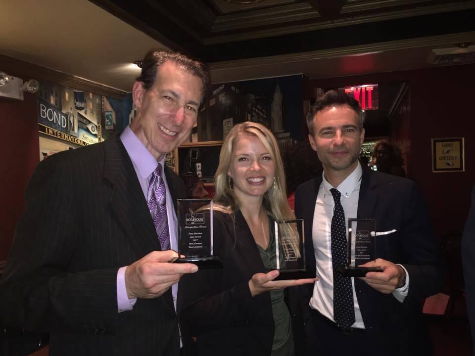 2017 poll winners Levinson, Skonberg, and Cunningham. (photo courtesy Dan Levinson)