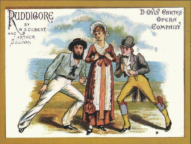 Poster for a production of Ruddigore, published in 1887.
