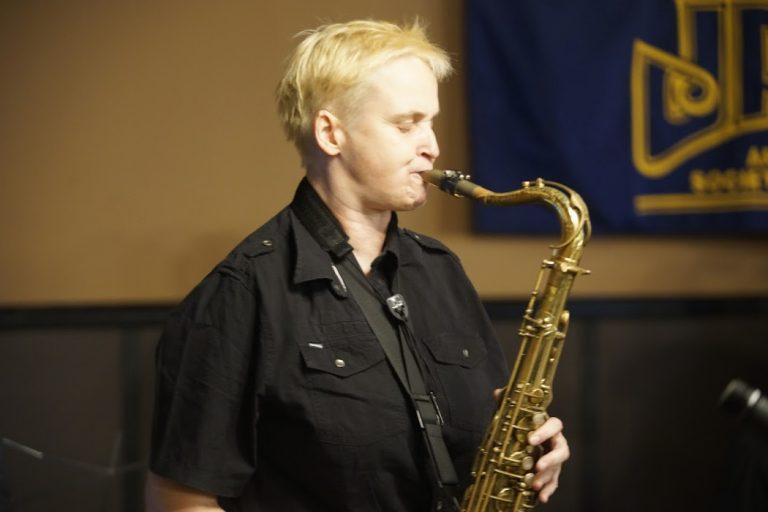 Saxophonist Sarah Spencer (photo by John Herr)