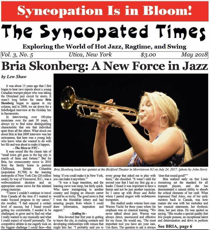 Syncopated Times 2018 05 May cover detail 1 - Past Issues