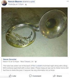 Tuba Stolen March 13