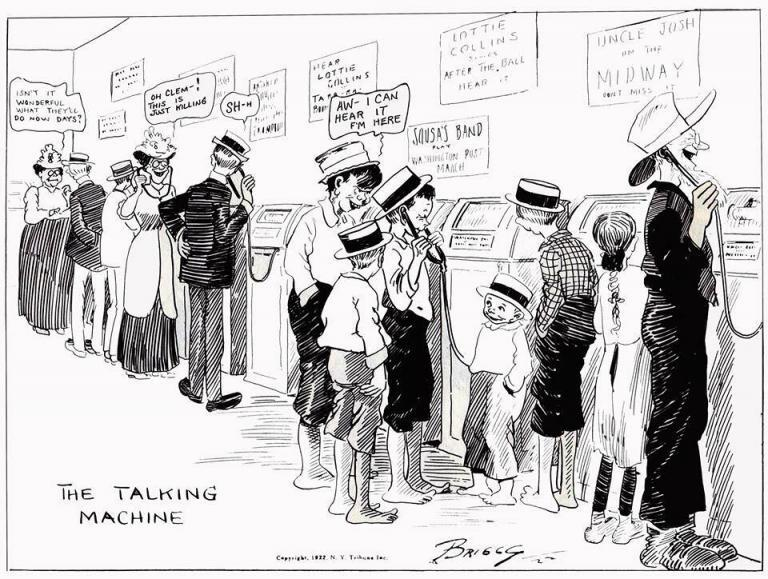 Clare Briggs 1922 The Talking Machine