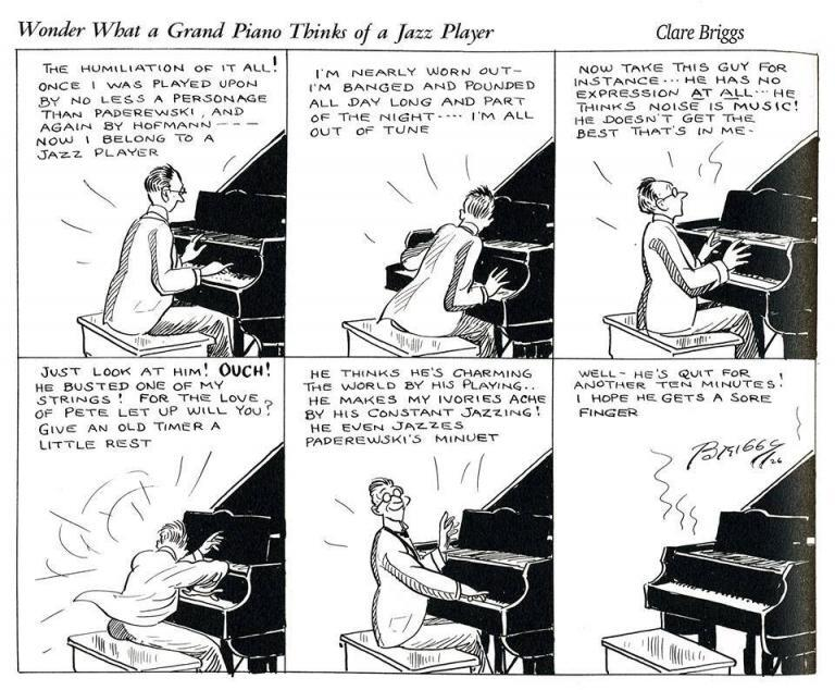 Piano thinks of a Jazz Player 1926 Briggs