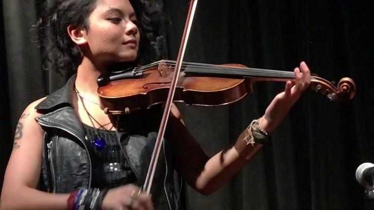 Daisy Castro with Violin