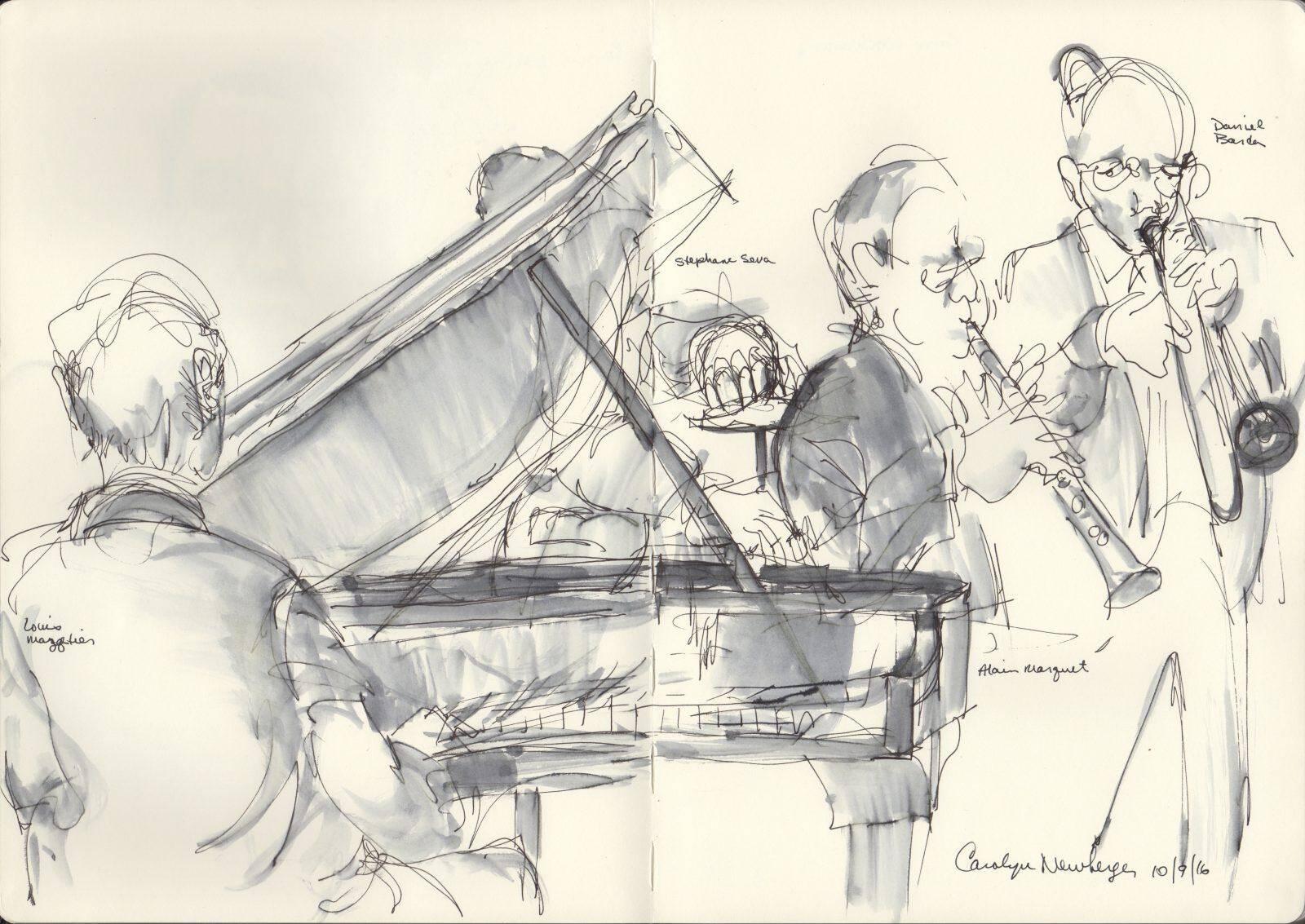 Artist Carolyn Newberger Captures Jazz in Motion