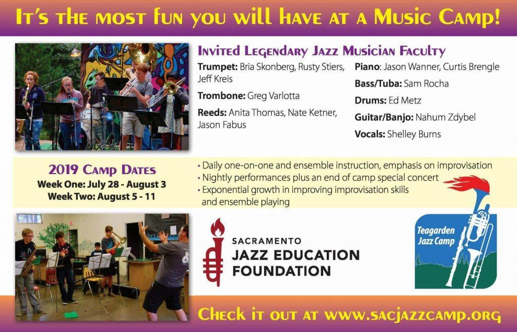 Don't Miss the Teagarden Jazz Camp Fundraising Extravaganza