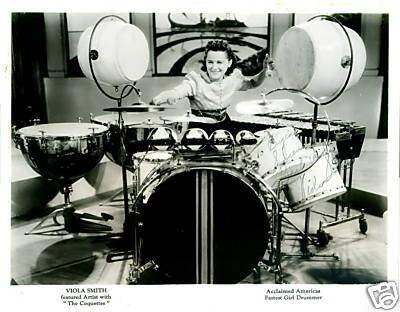 viola smith autographed photo 1940s great drums 1 8eec494c7f809e4a5670c0e77bf93928 - Viola Smith's Century in Music- An Interview with the World's Oldest Drummer.