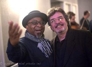 Alvin Atkinson and Duduka daFonseca at the 2019 North Carolina Jazz Festival. (photo by Herman Burney)
