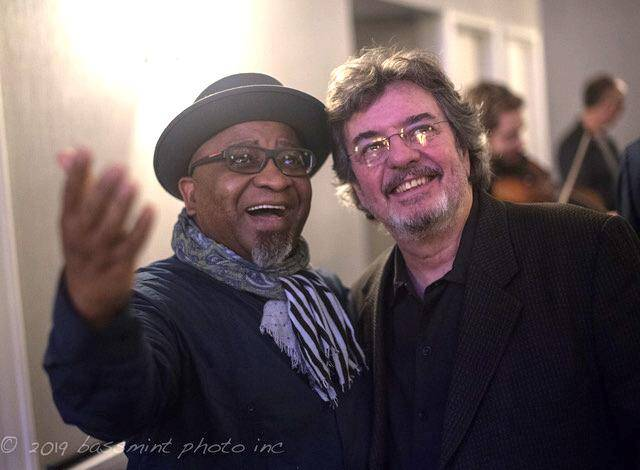 Alvin Atkinson and Duduka daFonseca at the 2019 North Carolina Jazz Festival. (photo by Herman Burney)
