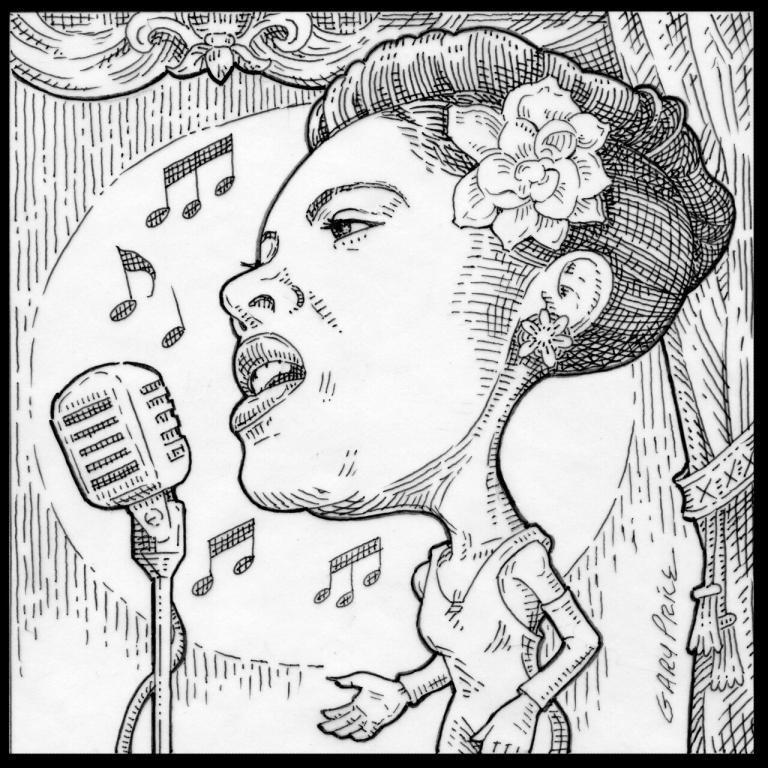 Billie Holiday cartoon