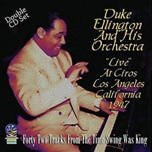 Duke Ellington Live at Ciros Album Cover