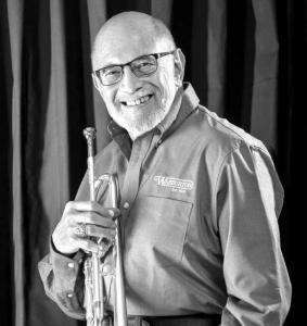 Trumpeter Mike Vax leads the Stan Kenton Orchestra