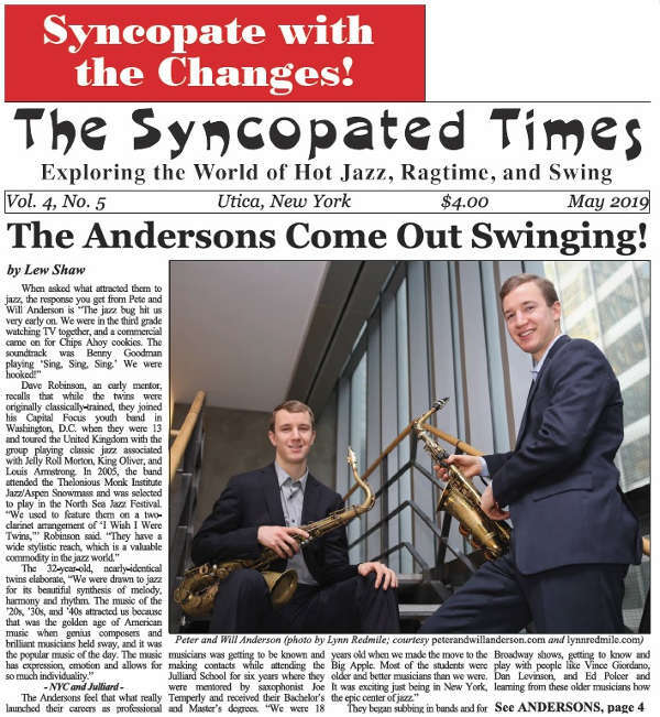 Syncopated Times 2019 05 May - Past Issues