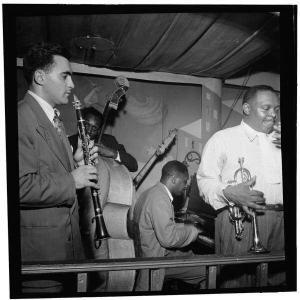 Sol Yaged, John Levy, Jimmy Jones, and Rex Stewart, Pied Piper, New York City, c. September 1946; photograph by William P. Gottlieb