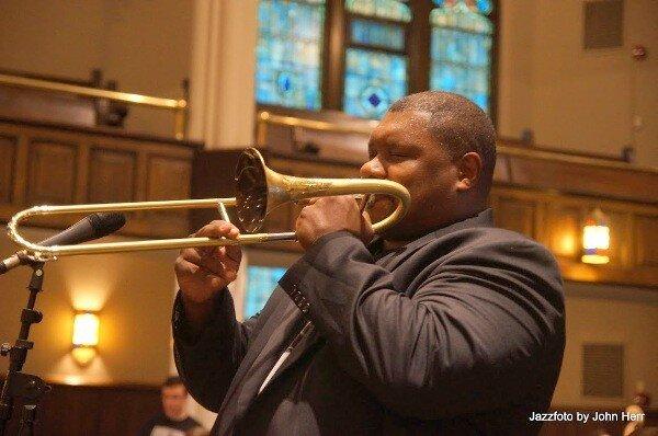 Wycliffe Gordon slide trumpet Scranton May 10 2019 John Herr