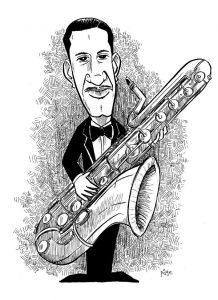 Adrian Rollini cartoon