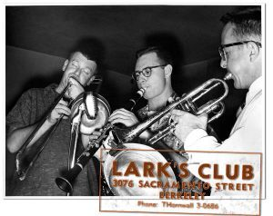 Bob Mielke, Bunky Colman and P.T. Stanton at the Larks Club 1955