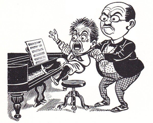 "Piano lesson - You Can't Spell ""Chagrin"" Without ""Grin"""