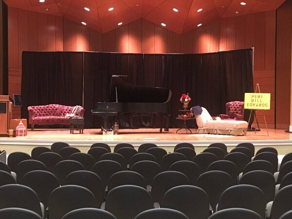 Stage at old time piano contest