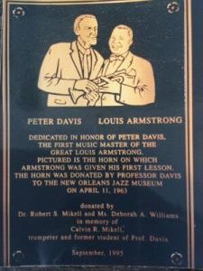 Plaque Davis Armstrong