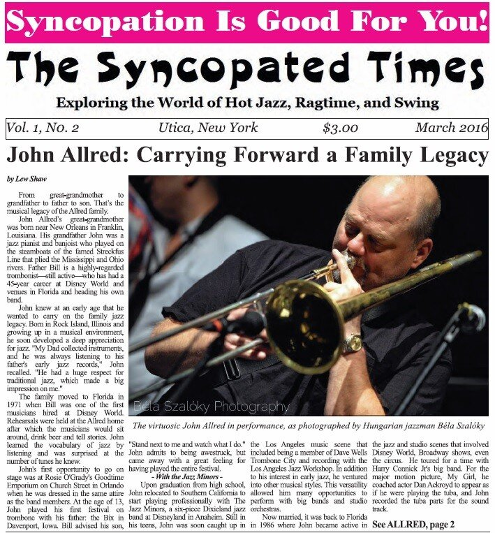 Syncopated Times Stories 2016 2 March cover detail 1 - Past Issues