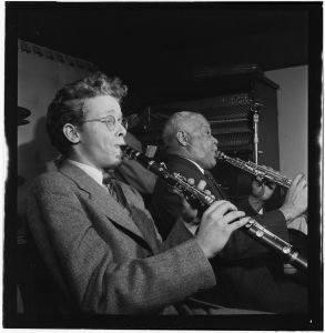 Bob Wilber and Sidney Bechet, Jimmy Ryan's (Club), New York, c. January 1947; image: William P. Gottlieb
