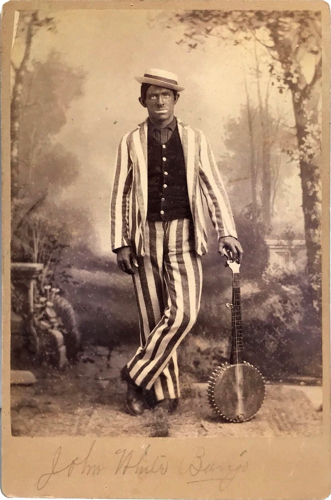 Blackface Minstrel John White Bedford of Haverstraw New York