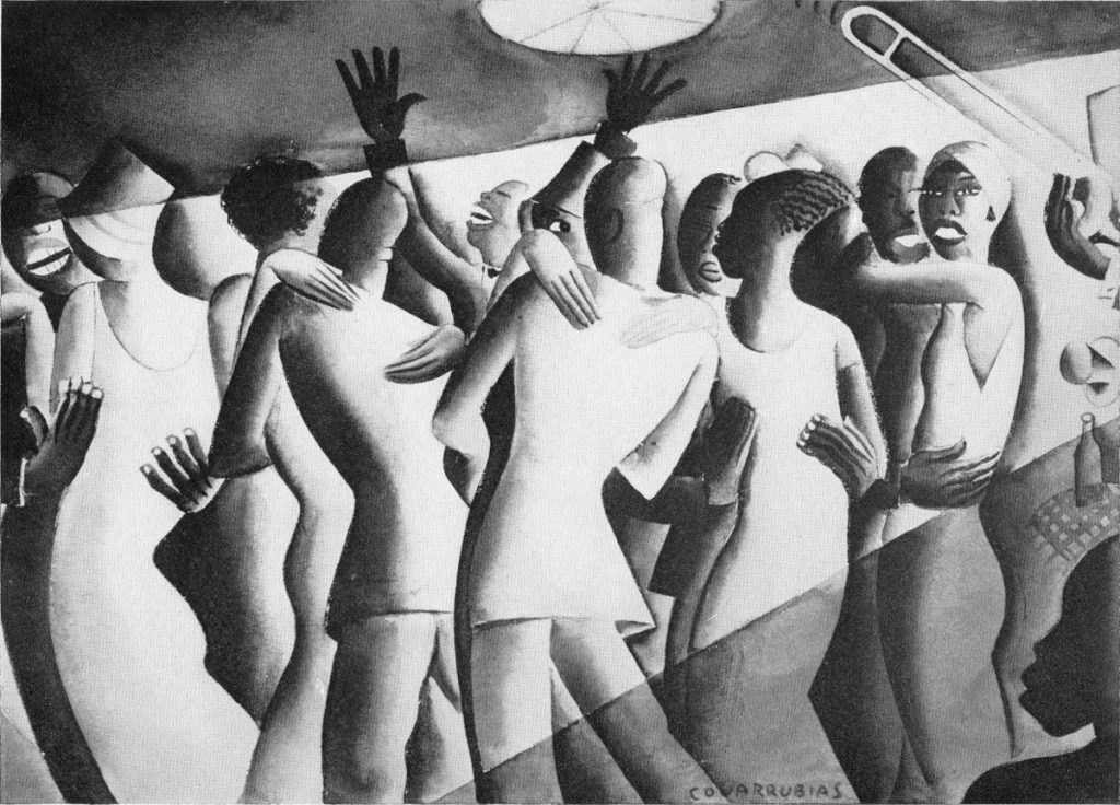 A Blues Dance by Miguel Covarrubias (plate from Blues by W.C. Handy, 2nd Ed., 1926)