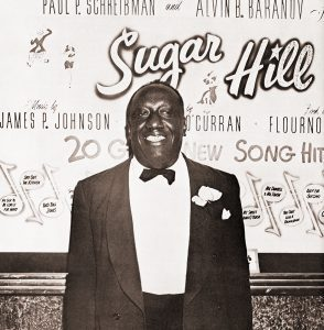"""Johnson at the opening of his show, """"Sugar Hill"""" in 1949"""