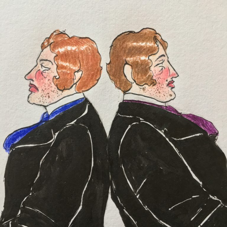 The Hager Brothers (illustration by R.S. Baker)