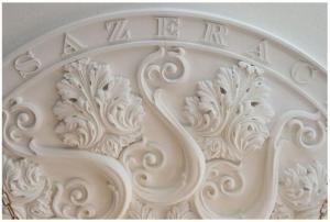 A ceiling medallion at the Sazerac House (Photo Chris Granger)