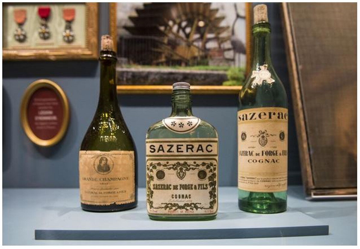 Vintage bottles at The Sazerac House (Photo Chris Granger)