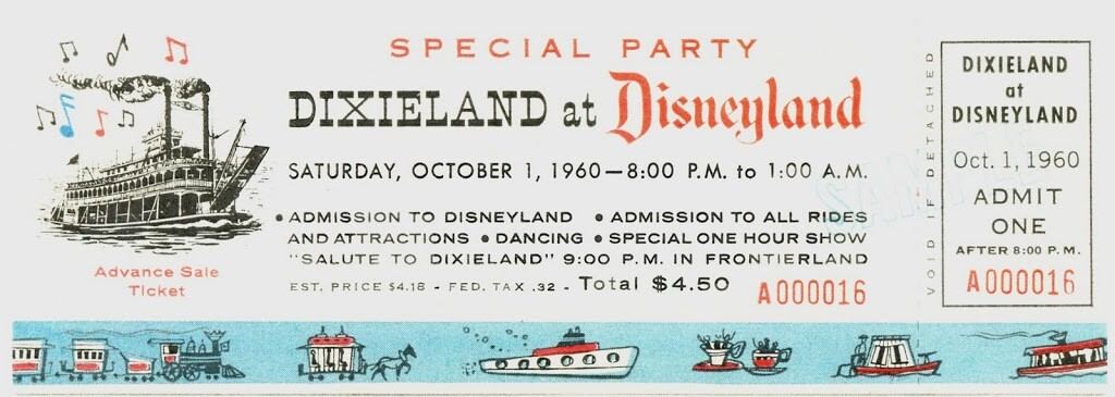 Dixieland at Disneyland Ticket