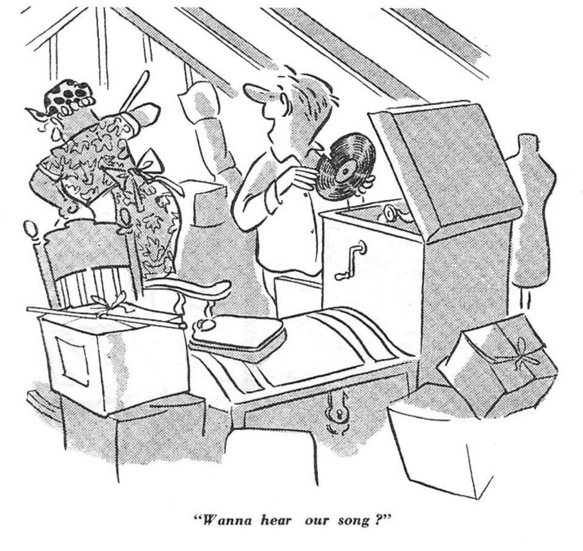 Left handed Victrola - Jazz Cartoons December 2019