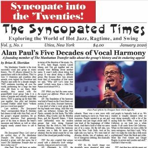 Syncopated Times 2020-01 January cover detail