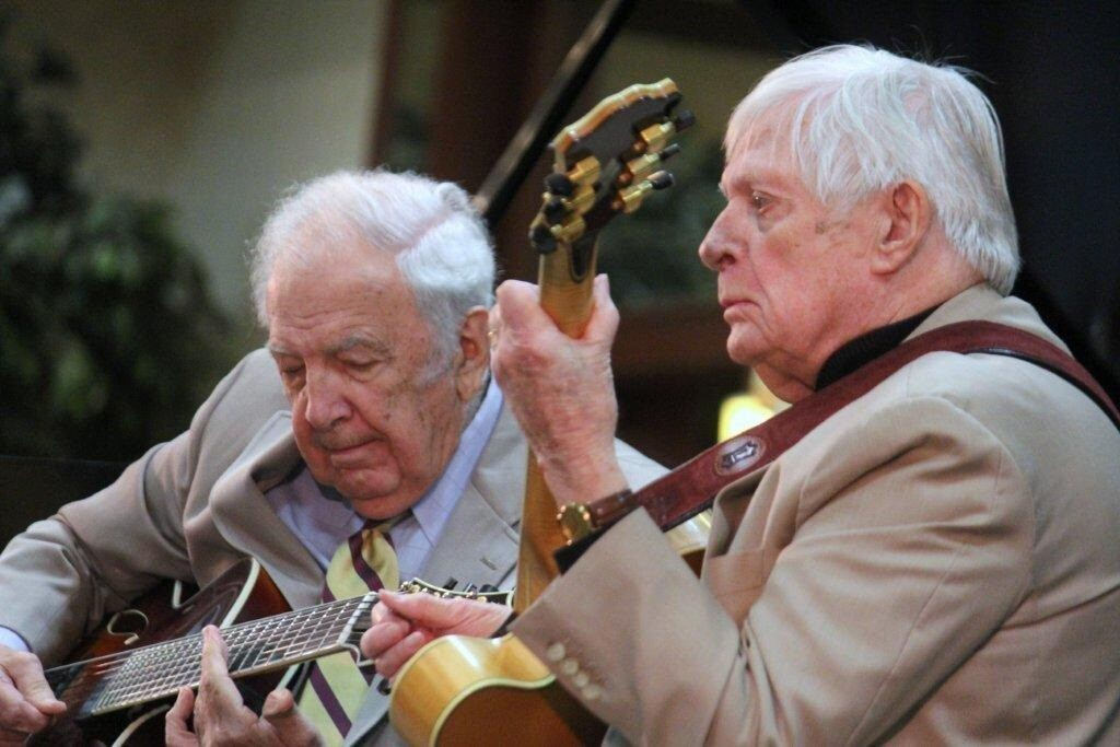 Bucky Pizzarelli and guitarist Mundell Lowe