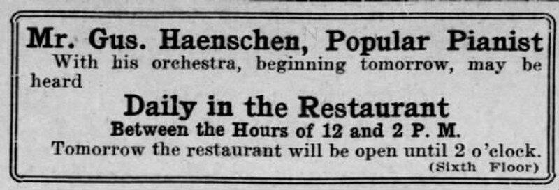 Gus Haenschen ad September 1915