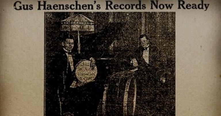 Gus Haenschen record ad