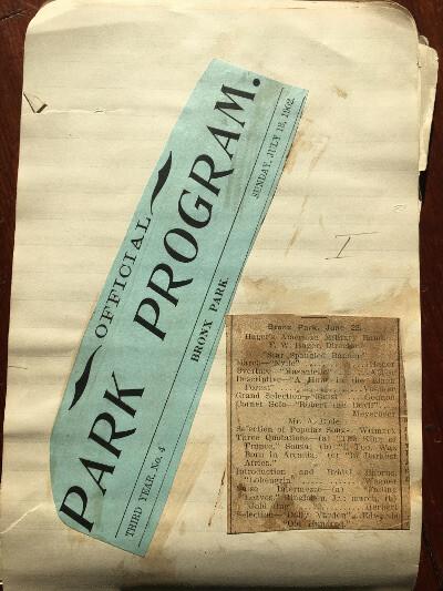 Hager park program( Hager scrapbook)