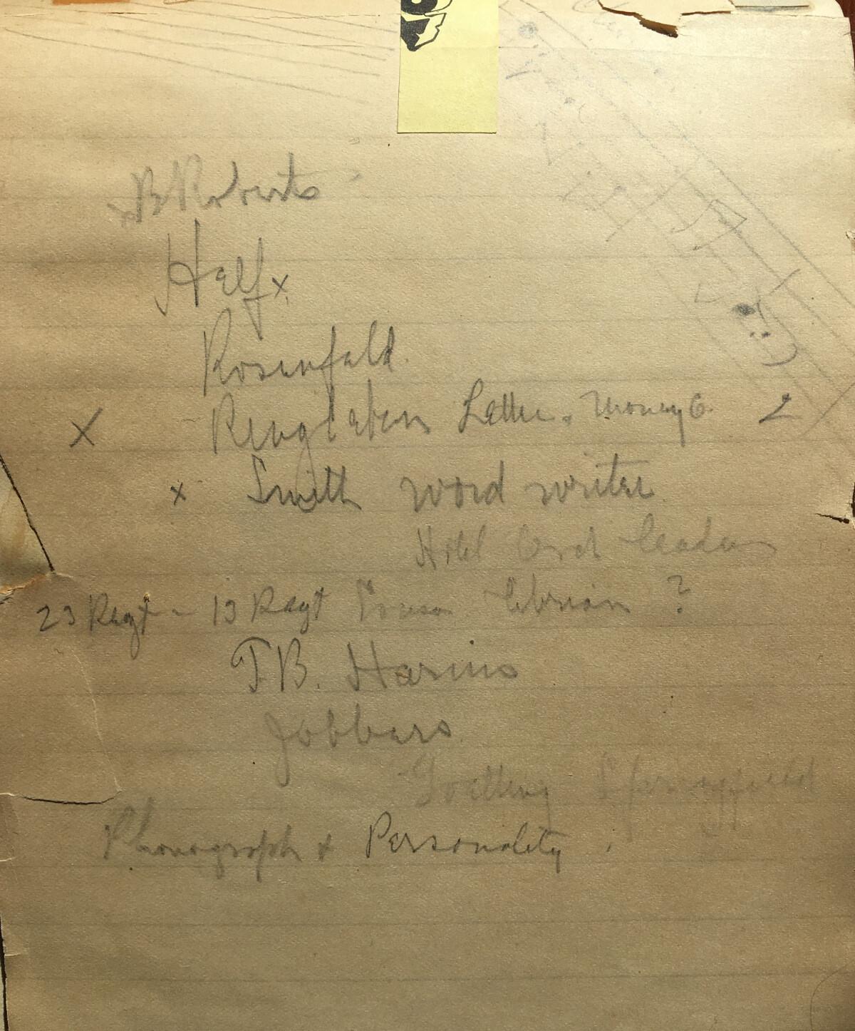 Hager scribbles