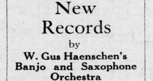 Gus Haenschen Nov 1916