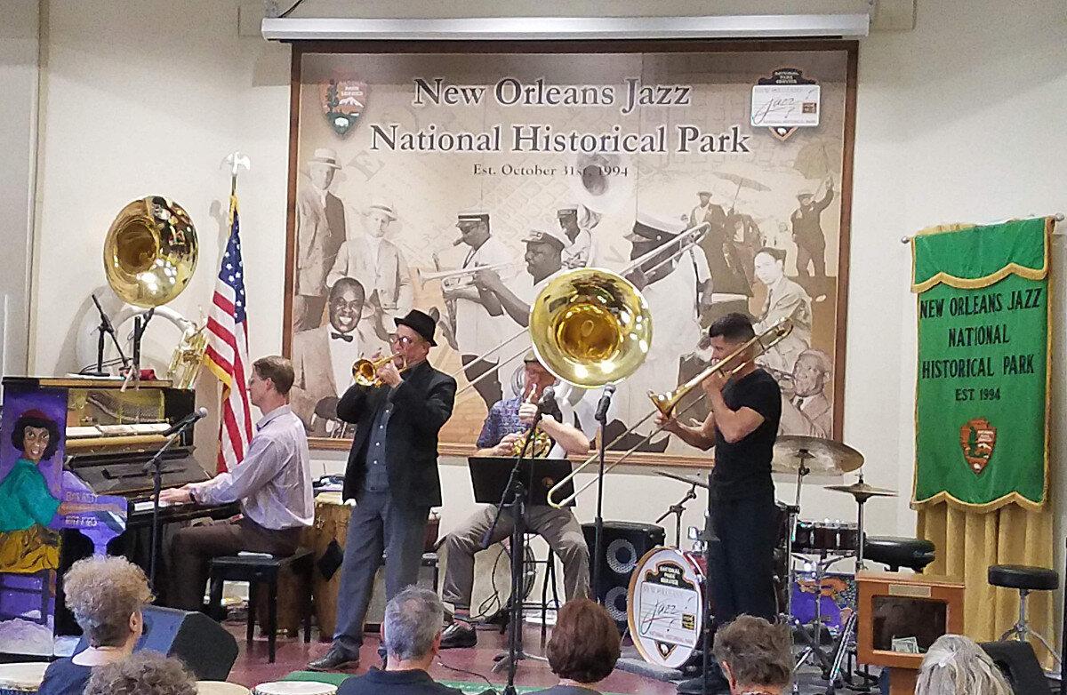 Jazz Park – Richard Scott (p), Kevin Clark (cnt), Patrick Sheridan (sousa), Harry Watters (tb)