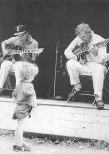YOUNG-John with Father Bucky Pizzarelli