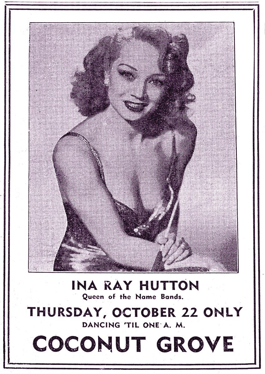 Ina Ray Hutton, Coconut Grove