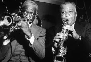 Bunk Johnson and Sidney Bechet